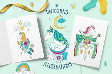 Unicorns Illustrations