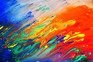 Colorful abstract acrylic painting