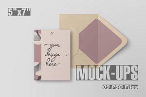 5x7 Postcard & Envelope Mockup