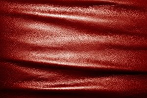Soft wrinkled red leather