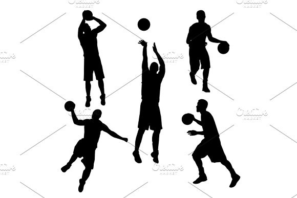 Silhouette Basketball Player