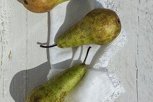 Pears flat lay