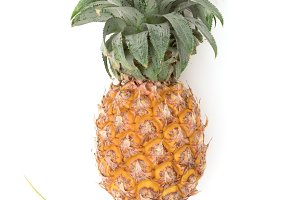Pineapple fruit ripe on white