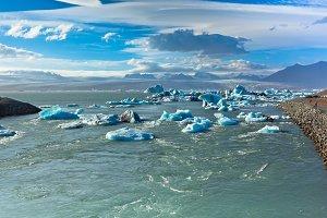 Jokulsarlon Glacier Lagoon in