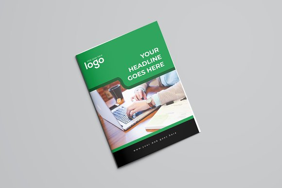 Corporate Green Bifold Brochure