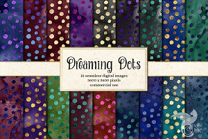 Dreaming Dots Seamless Patterns