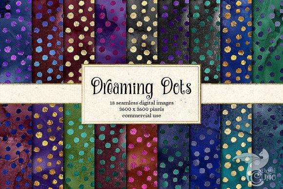 Dreaming Dots Seamless Patterns
