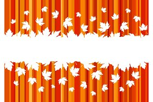 Banner with colorful autumn leaves, copy space.