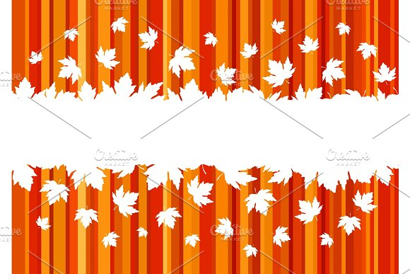 Banner With Colorful Autumn Leaves Copy Space