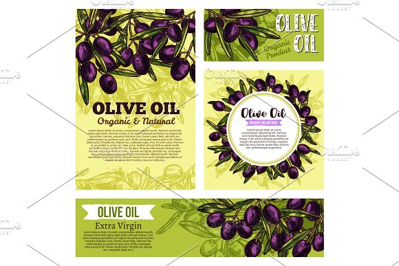 Olive Oil Creative Banners