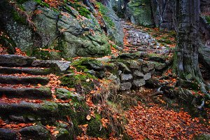 Stone Stairs to Mountain Top