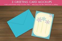 Minimal Greeting Card Mockup