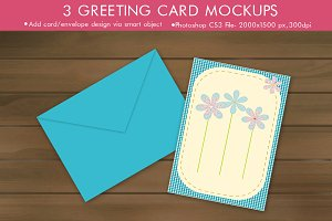 Minimal Greeting Card Mockup