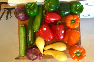 Bright Colored Vegetables