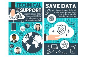 Save data technical banners