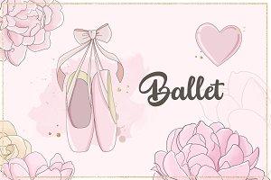 "Illustrations ""Ballet"" Pink"