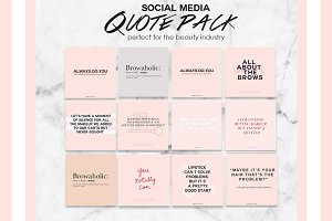 Social Media Beauty Quote Pack