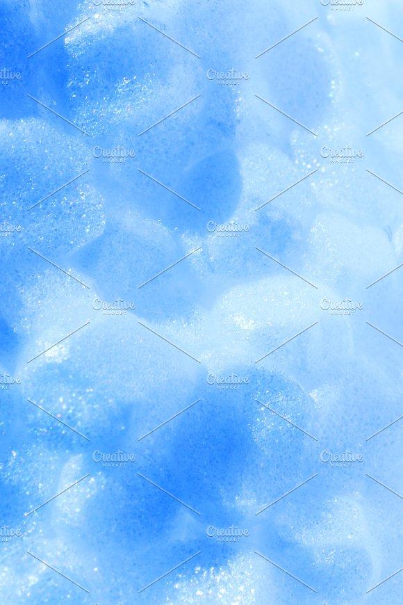 Abstract Blue Styrofoam