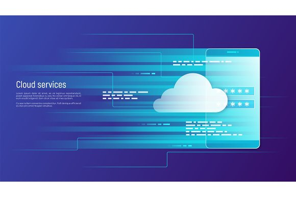 Cloud Services Remote Data Storage Vector Concept