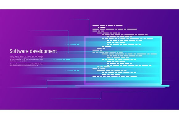 Software Development Programming Coding Vector Concept