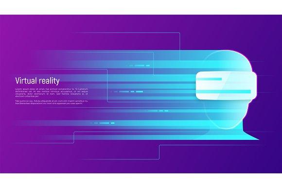Virtual Reality Abstract Vector Concept