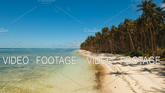 Aerial View Beautiful Beach On A Tropical Island Philippines Siargao
