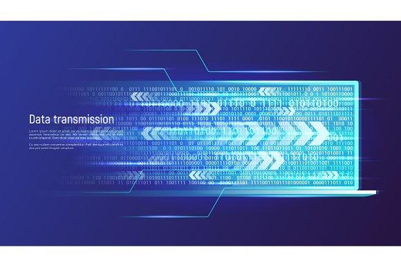 Data Transmission Technology Concept Vector Illustration