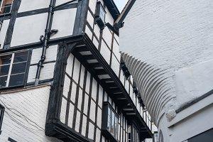Narrow Grope Lane in Shrewsbury, Shropshire