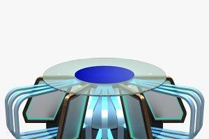 Virtual TV Studio News Desk 7