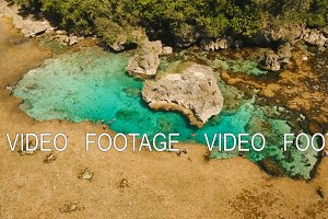 Magpupungko natural rock pools. Aerial view :Philippines,Siargao.