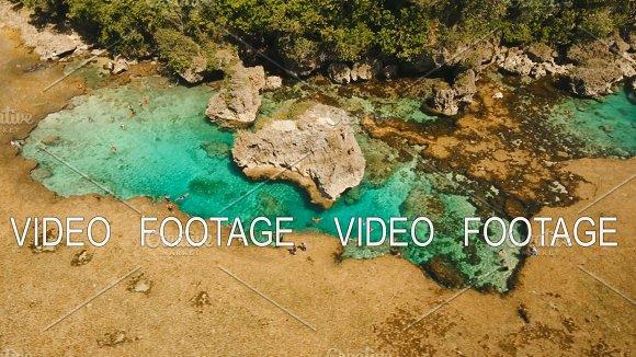 Magpupungko Natural Rock Pools Aerial View Philippines Siargao