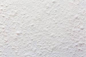 Flour surface. A pile of flour, top