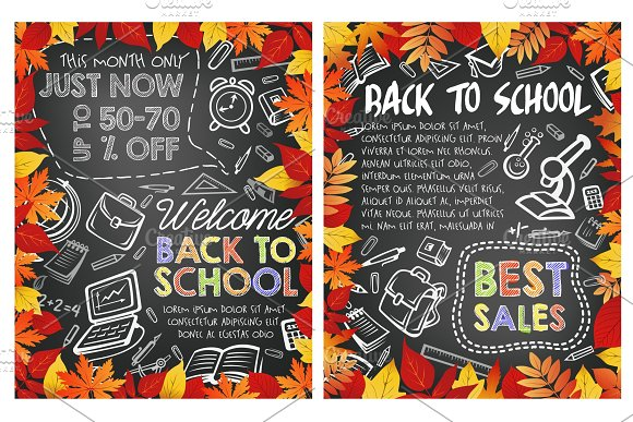 Back To School Special Sale Offer Poster Design