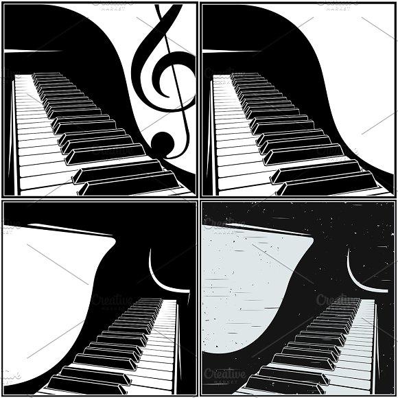 Piano Keyboard Close-up Mini Set