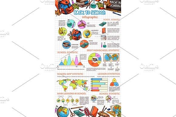 School Vector Education Sketch Infographics