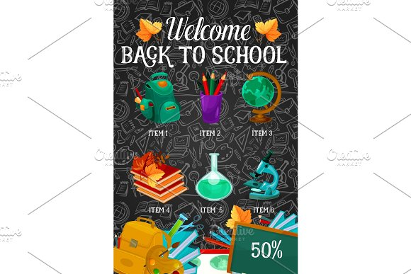 Welcome Back To School Sale Offer Banner Design