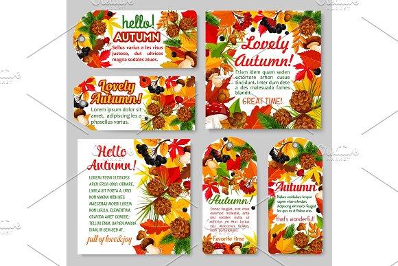 Hello Autumn Banner And Fall Season Tag Set