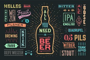 Poster All You Nees Is Beer