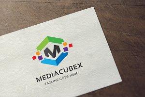 Media Cube - Letter M Logo
