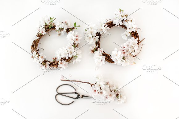 Stock Photo-Cherry Blossom Wreaths