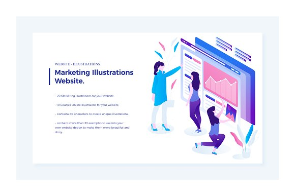 Marketing Courses Illustrations