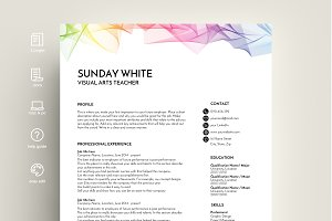resume template word creative