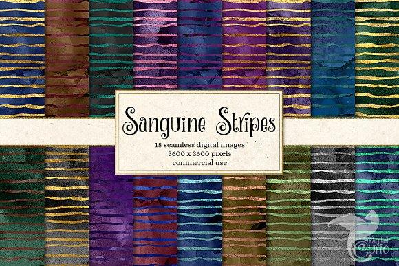 Sanguine Stripes Digital Paper