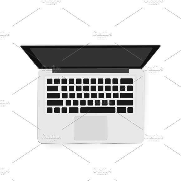 Vector Image Of Computer Laptop