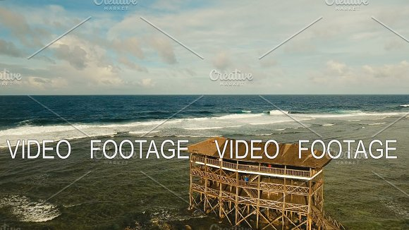 Cloud Nine Surf Point Aerial View Siargao Philippines Cloud 9