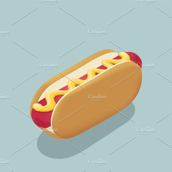 Vector Of Hotdog Icon