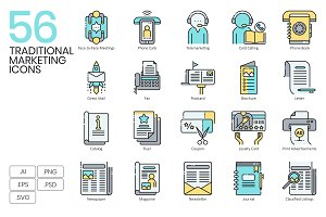 Traditional Marketing Icons | Aqua