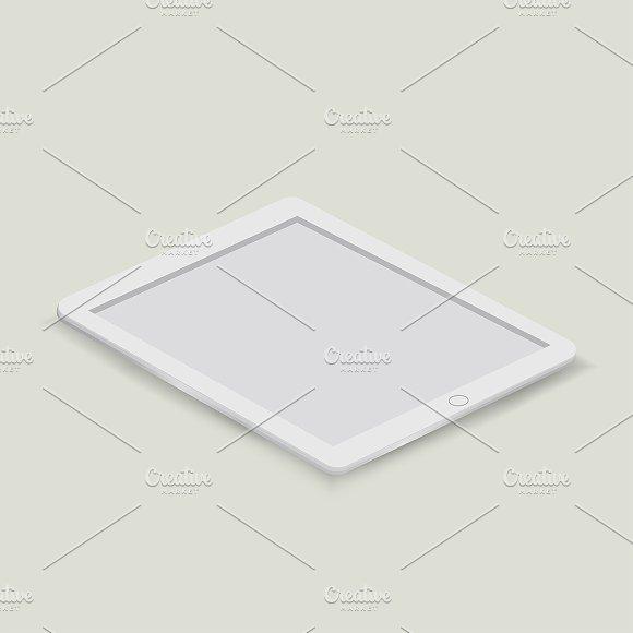 Vector Of Digital Tablet