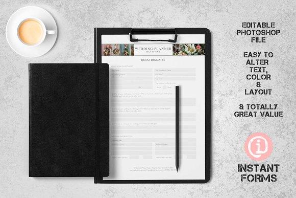 Wedding Planner Forms