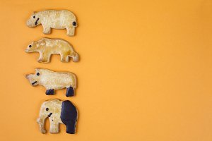 Cookies shaped like animals